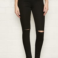 Ripped High-Rise Super Skinny Jeans