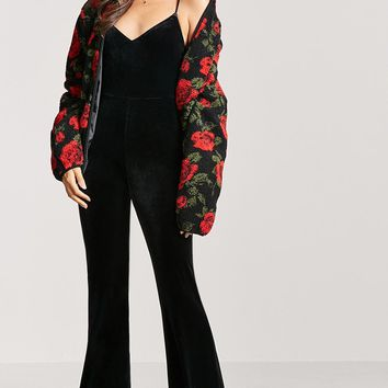Velvet Flared Jumpsuit