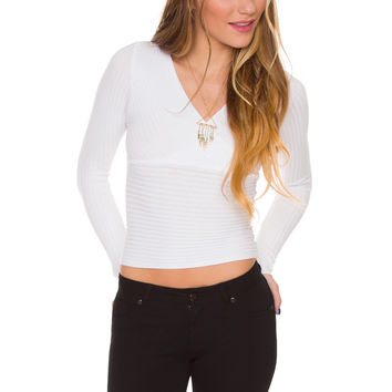 Elenora Knit Top - White