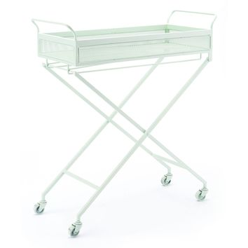 Mint Green Bar Cart