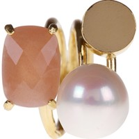 Wouters & Hendrix Sunstone And Pearl Ring