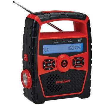 First Alert Portable Am And Fm Weather Radio With Alarm Clock