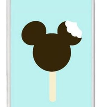 Custom Disneyland Mickey Ear Ice Cream Cell Phone Case Cover  iPhone 5 6 Plus Samsung Galaxy S4 S5 S6 Edge Note 3 4
