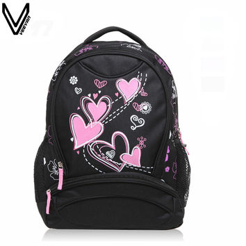 Veevanv Appliques Floral Pvc Backpacks For Girls Wstbp01415