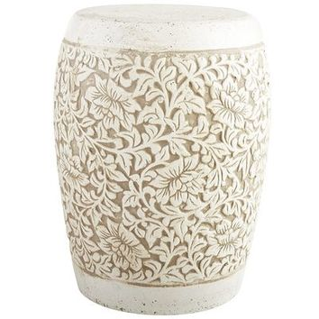 Embossed Flower Garden Stool