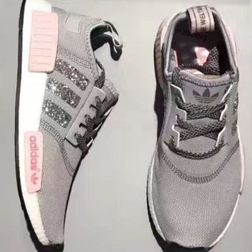 DCCKIJG Adidas NMD individuality Sequins Fashion Trending Women Leisure Running Sports Shoes H