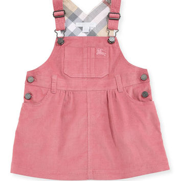 Burberry Wilma Corduroy Overall Dress, 3-24 Months