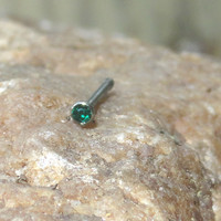 Emerald Green Crystal Nose Stud Nose Ring