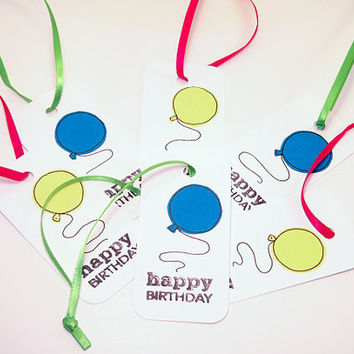 Gift Tags - Handmade Happy Birthday Gift Tag - Favor Tags -  Tags - Price Tags -Pack of 6