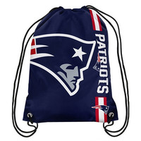 New England Patriots Official NFL Team Logo Drawstring Backpack