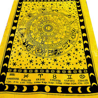 astrology tapestry hippie tapestries wall hanging zodiac bedspread cover hippy coverlet bohemian ethnic home decor-free shipping