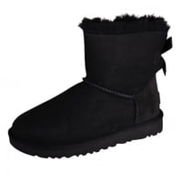 UGG MINI BAILEY BOW ll Black Boat Winter Boots Shoes Black Warm Ladies