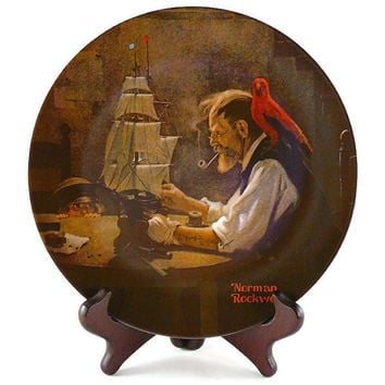 Vintage 1980, Norman Rockwell, Fourth Edition, Heritage Collection, The Ship Builder, By Knowles