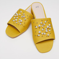 Mules - Yellow - Ladies | H&M GB