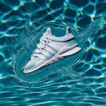 Sale Parley x Adidas Originals EQT Support ADV White Blue Spirit Trainers  Sneaker - AC7804 5008a0695c78