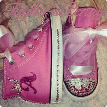 ICIKGQ8 girl s bling converse for a princess w satin tulle