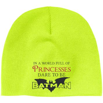 In A World Full Of Princesses Dare To Be Batman Beanie