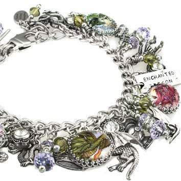 The Enchanted Dragon Charm Bracelet