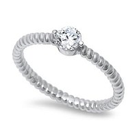 A Perfect .5CT Russian Lab Diamond Wedding Band Stackable Ring