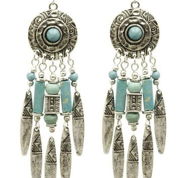 Native American Style Fringe Earrings 1989