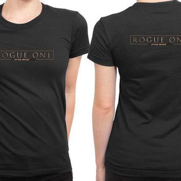 ONETOW Star Wars Rogue One Logo 2 Sided Womens T Shirt