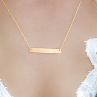 Underline Necklace - Gold