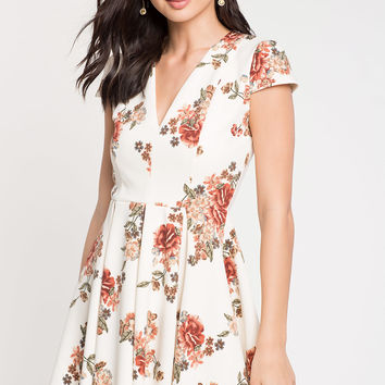 Fable Floral Flare Dress