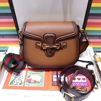 GUCCI High Quality Classic Fashion Leather Cowhide Shoulder Bag Crossbody Satchel