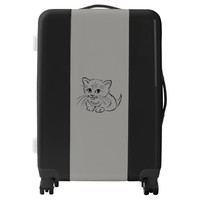 Cute Cat Portrait Luggage