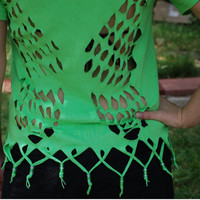 Tinkerbell/Faerie wing Cut Out-Beaded Shirt