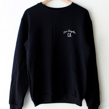 Los Angeles CA Oversized Sweatshirt - Black