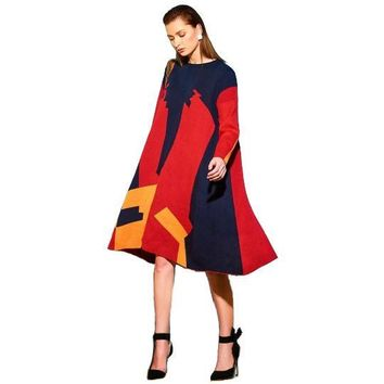 Asymmetrical Women's Sweater Dress