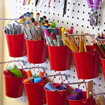 Pegboard Pails