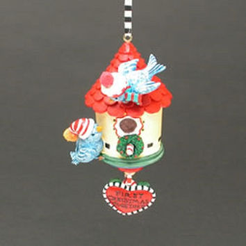 Mary Engelbreit First Christmas Together Bird House Ornament-ME 326
