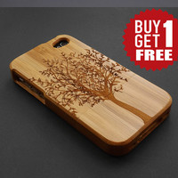 Tree Dark Bamboo Wood iPhone 6 Case - iPhone 6 Case Wood - Real Wood iPhone 6 Case - Wooden iPhone 6 Case - Natural Wood iPhone 6 Plus Case