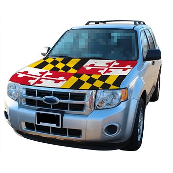 Maryland Flag / Car Hood Cover