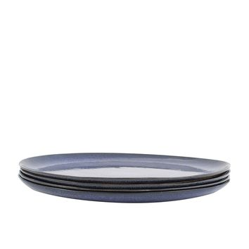 Bambeco Farmstead Stoneware Indigo Dinner Plate - Case Of 4 - 4 Count
