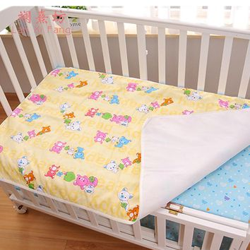 3 Colors Changing Pad Baby Kids Reusable Waterproof Mattress Bedding Diapering Changing Mat Washable Breathable Cotton