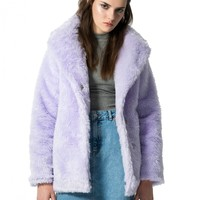 FAKE PURPLE fur coat