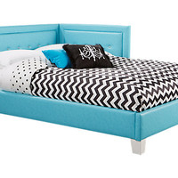 Lucie Blue 4 Pc Full Corner Bed - Full Beds Colors