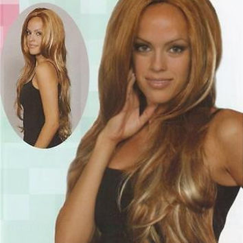 Red/Blond Long Straight Wig - Black/Brown/Auburn Wigs