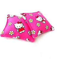 Pink Hello Kitty Hand Warmers -  Kawaii Flowers Reusable Rice Hand Warmers