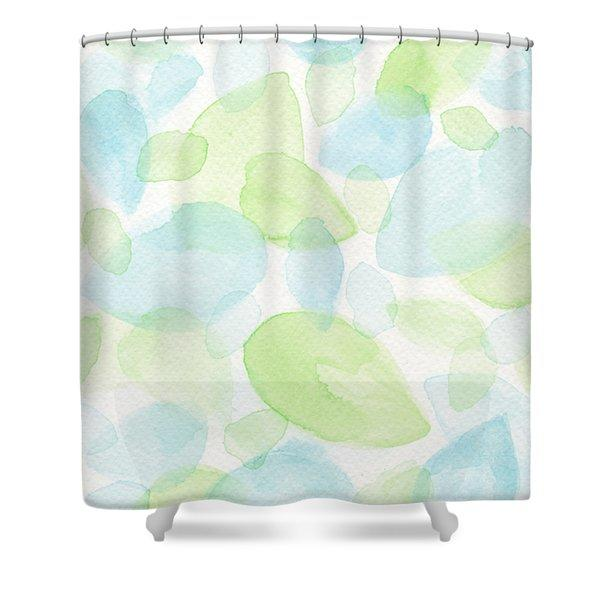 Green And Blue Leaves Shower Curtain From Fine Art America