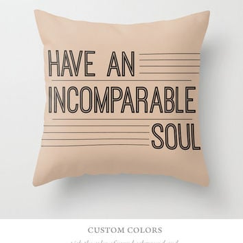 Custom Choose Your Color Home Decor Typography Throw Pillow Cover Decorative Throw Pillow Cover Inspirational Quote, Minimalist Decor
