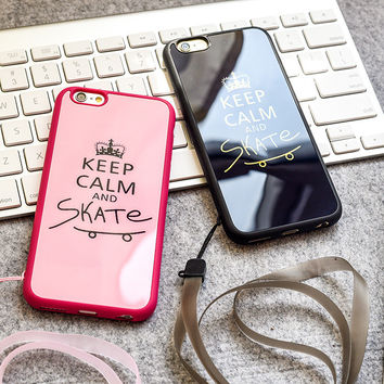 Cute Hot Deal On Sale Iphone 6/6s Stylish Crown Couple Apple Silicone Acrylic Mirror Phone Case [8383658951]
