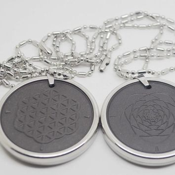 Flower of life Stainless Steel Energy Pendant 5000 ~ 6000 ions with Test Video with Card for each pendant