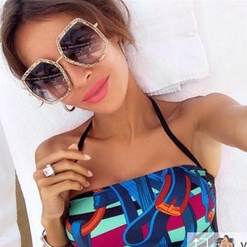 Luxury Sunglasses Women Brand Double Colors Sun Glasses