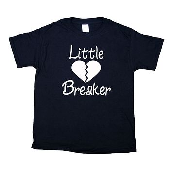 Little Heart Breaker Youth Shirt Cute Girls Boys Kids Clothing T-shirt