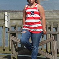 4th of July Tank Top with Bow on back