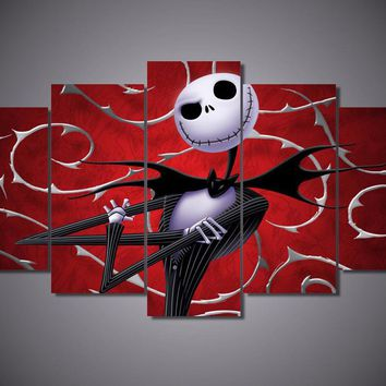 Nightmare Before Christmas 5-Piece Wall Art Canvas